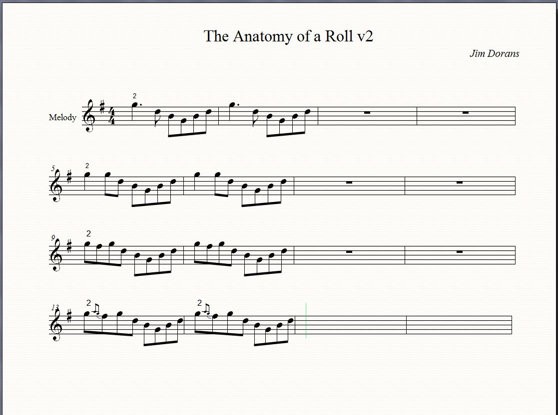 Anatomy of a roll on The Session